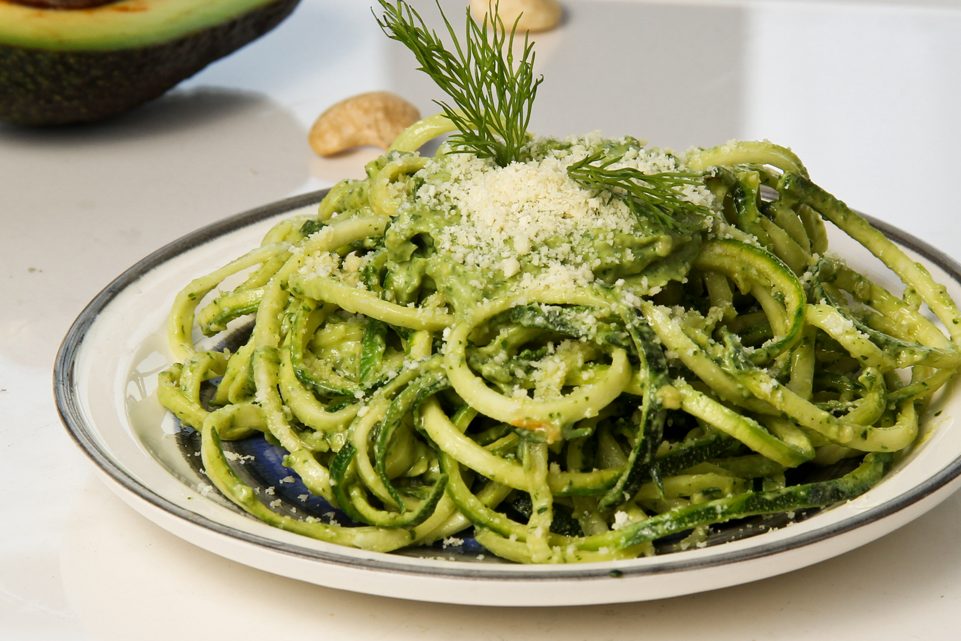 zucchini noodles with avocado pesto inergize with mary bennett. Black Bedroom Furniture Sets. Home Design Ideas